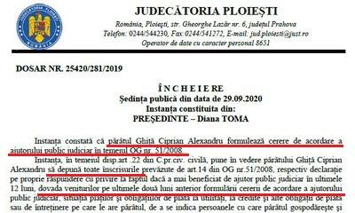 DATI UN BAN PENTRU SARMAN – Incredibil! Judecatorul Ciprian Alexandru Ghita de la Curtea de Apel Bucuresti a cerut in instanta ajutor public judiciar din partea Statului pe motiv ca n-are bani de avocat, desi castiga circa 15.000 lei/luna si a imprumutat altora 270.000 euro. Uluitor, paratul Ghita a pretins ca nu se poate apara singur, desi este ditamai judecator de curte de apel. Ghita a revenit cu adresa: